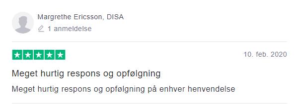 Margrethe Ericsson, DISA 10.02.2020